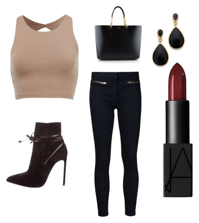 """""""Falling"""" by jab-bhim on Polyvore featuring Veronica Beard, Yves Saint Laurent, Kenneth Jay Lane and NARS Cosmetics"""