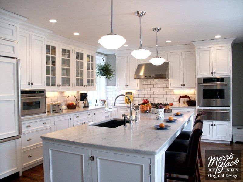Black And White Traditional Kitchen kitchen design | kitchen ideas | kitchen remodeling | morris black