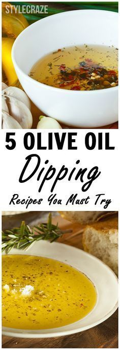 5 Delicious Olive Oil Dipping Recipes You Must Try #oliveoils