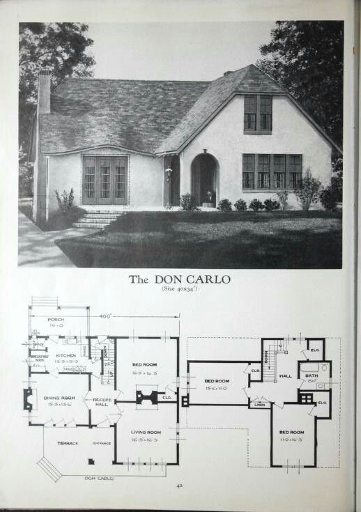 Homes Of Brick And Stucco By Standard Homes Company Published 1929 Craftsman House Plans Sims House Plans Vintage House Plans