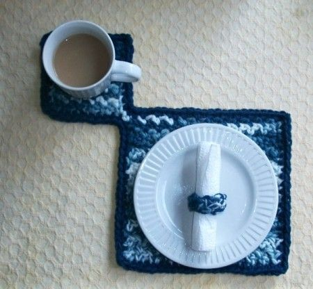 mat with cup and small plate