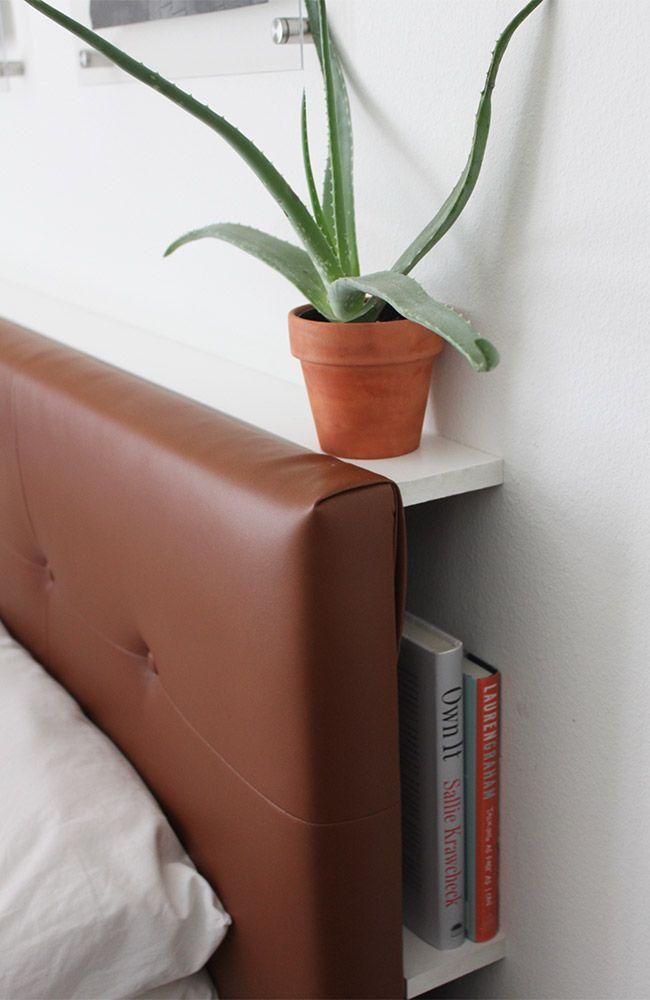 West Elm Inspired DIY Leather Tufted Headboard