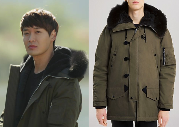 """Jung Gyu-Woon 정겨운 in """"Birth of a Beauty"""" Episode 2.  Sandro N-3B Parka #Kdrama #BirthOfABeauty 미녀의 탄생 #JungGyuWoon"""