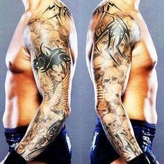 Robsgirljal Pinterest Randy Orton Tattoos Sleeve