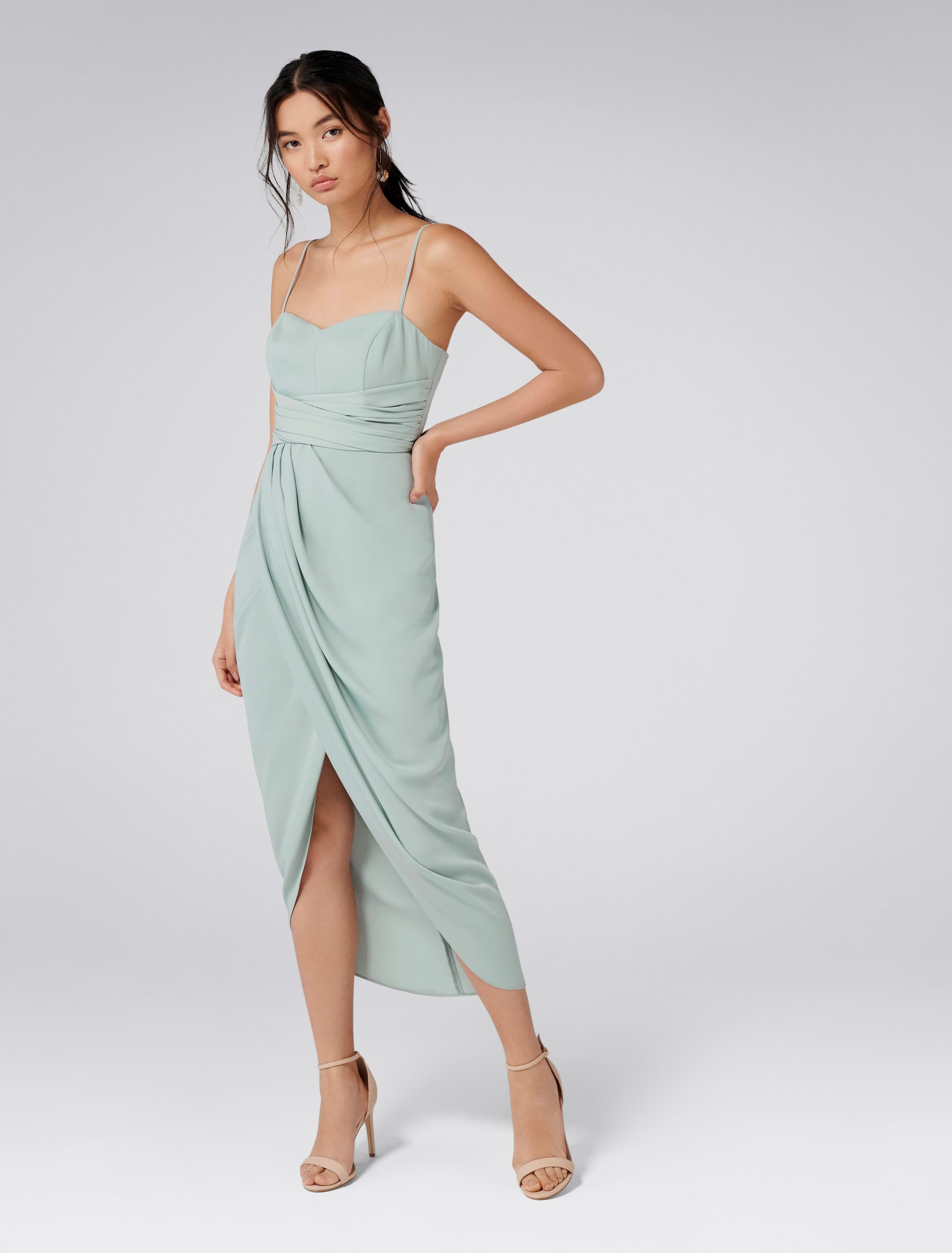 Forever Now Whitney Sweetheart Drape Maxi Dress Mint Bridesmaid Dress Jade Mist Tulip Midi Dress [ 3742 x 2844 Pixel ]