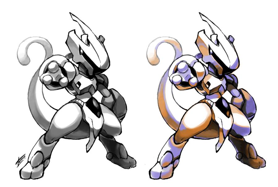 Armored Mewtwo By Tomycase On Deviantart Mew And Mewtwo Pokemon Pokemon Mewtwo
