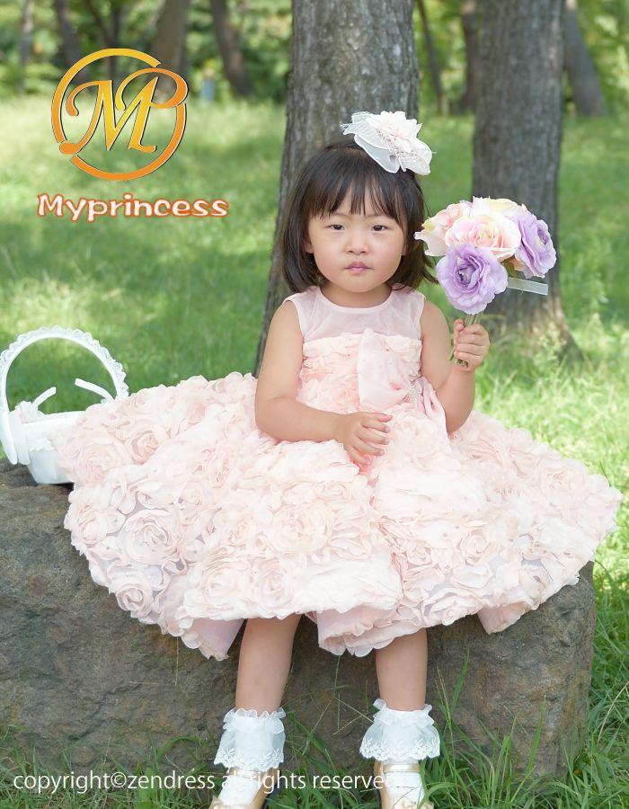 3eb6ffbc66d7d 子供ドレス 結婚式 ベビードレス 80 90 95フラワーガール 。 新作 子供 ...