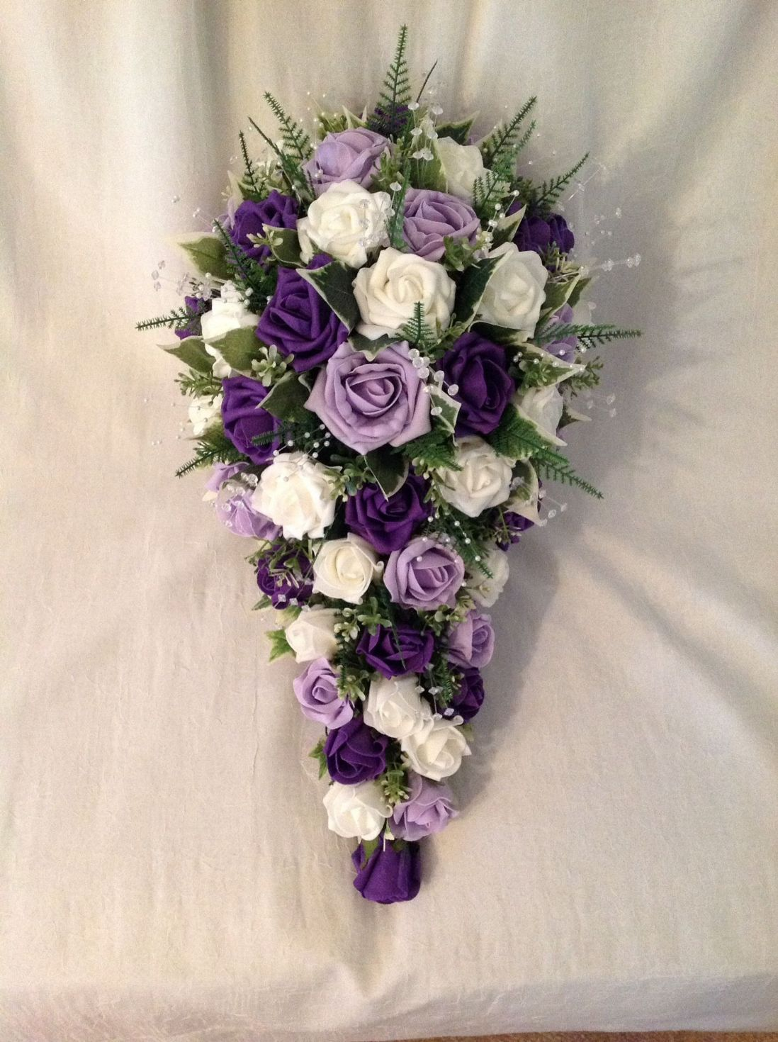 Wedding bouquets teardrop  Violet Wedding Bouquet   WEDDING BOUQUETS BRIDES TEARDROP