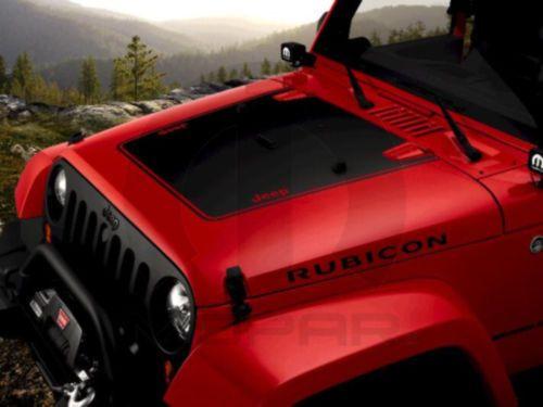 2007 2015 Jeep Wrangler Jk Matte Black Hood Decal Graphic Mopar
