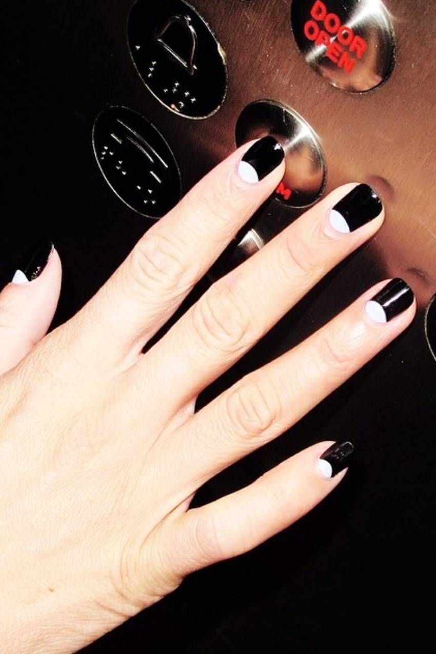 The Coolest Black And White Nail Designs According To Instagram In