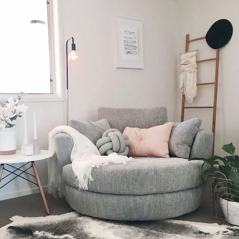 27 Fancy Cute Stuff For Your Bedroom Making Your Room Awesome Cool 12 Tendollarbux Com Roomdecor Roomdecoride Snuggle Chairs Room Ideas Bedroom Round Couch