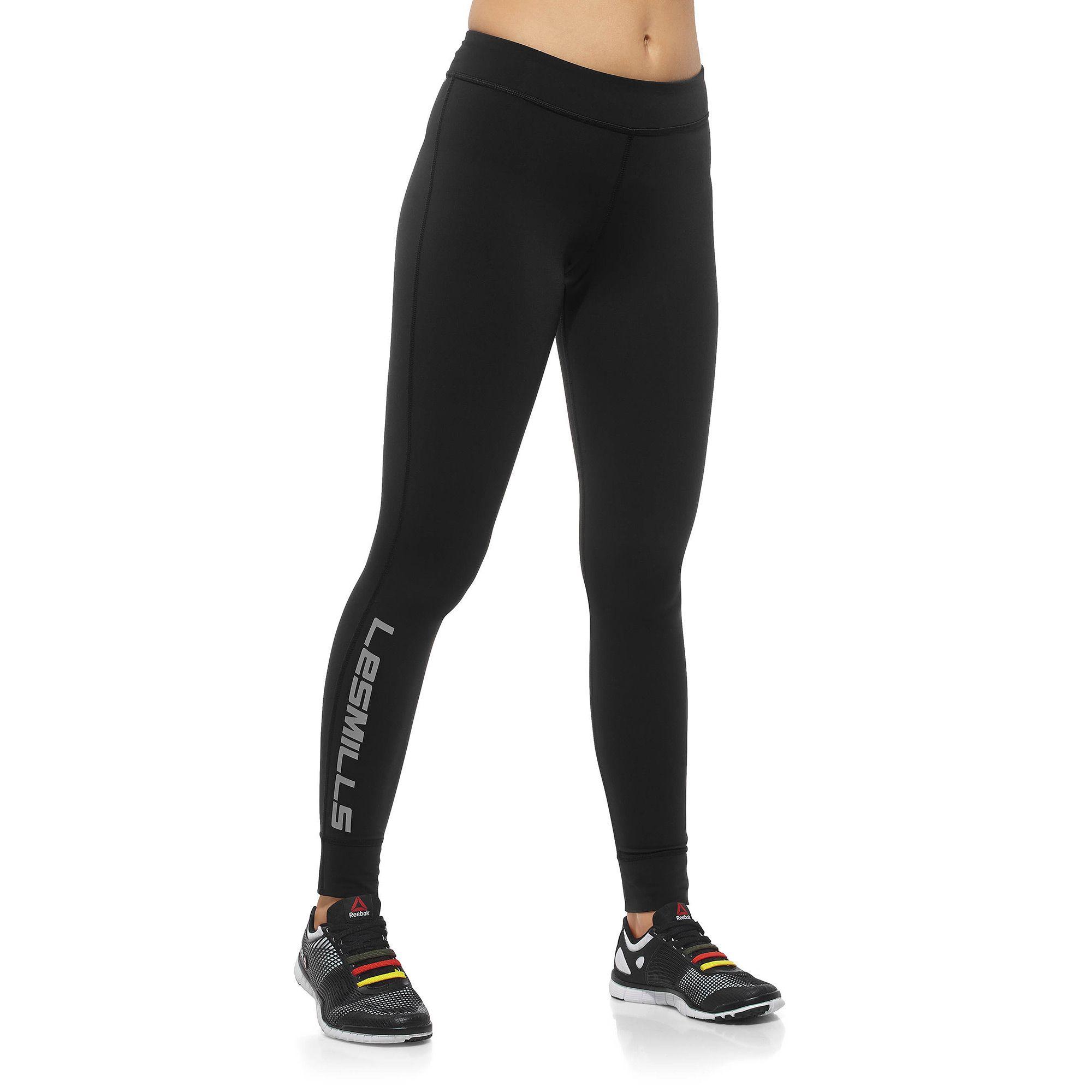 Womens REEBOK Training Leggings High Rise Pants Yoga Excercise Running Gym USA