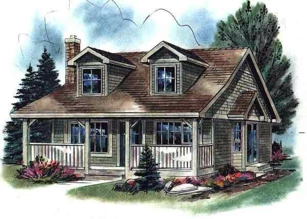 e Story Style House Plan with 2 Bed 1 Bath