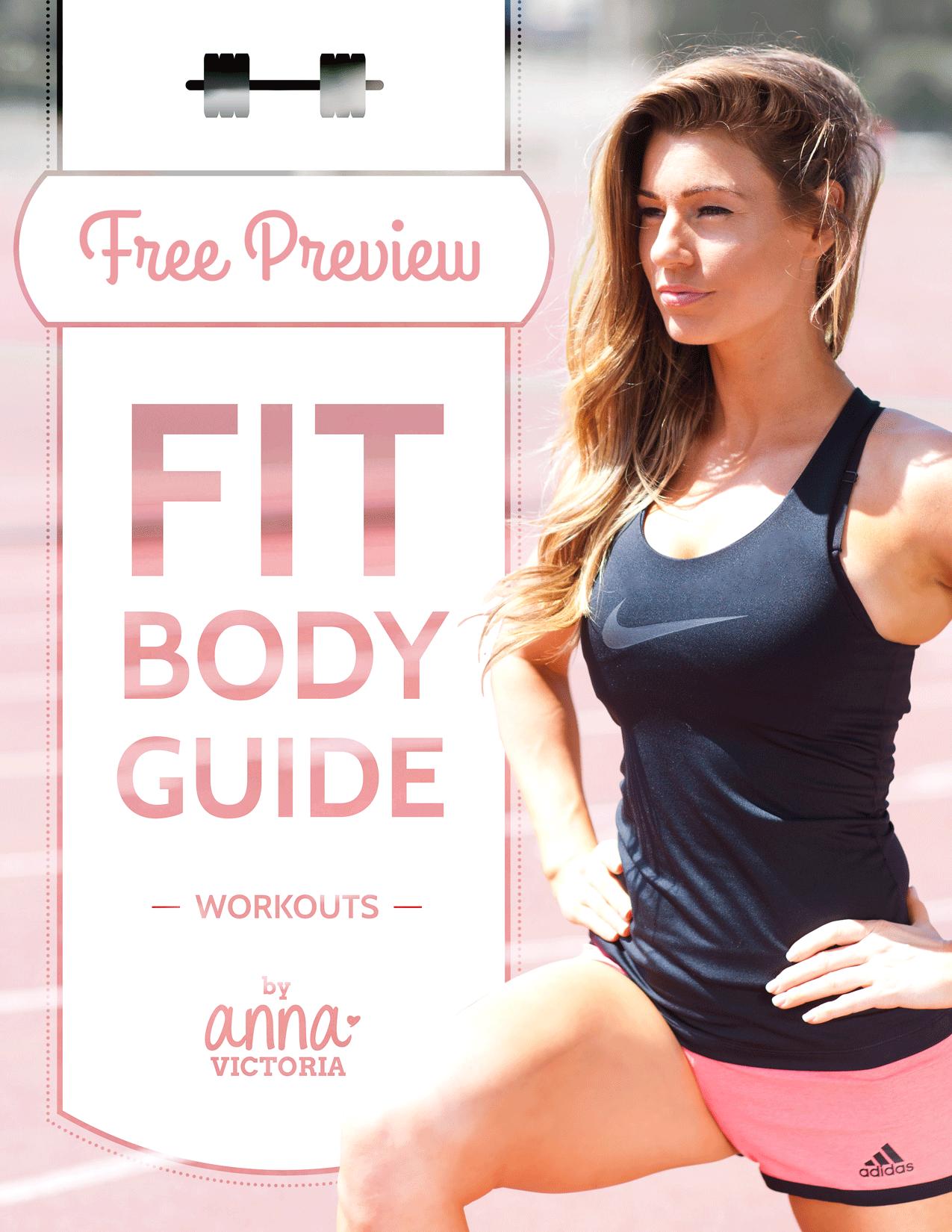 FREE PREVIEW ANNA VICTORIA Fit body guide, Anna
