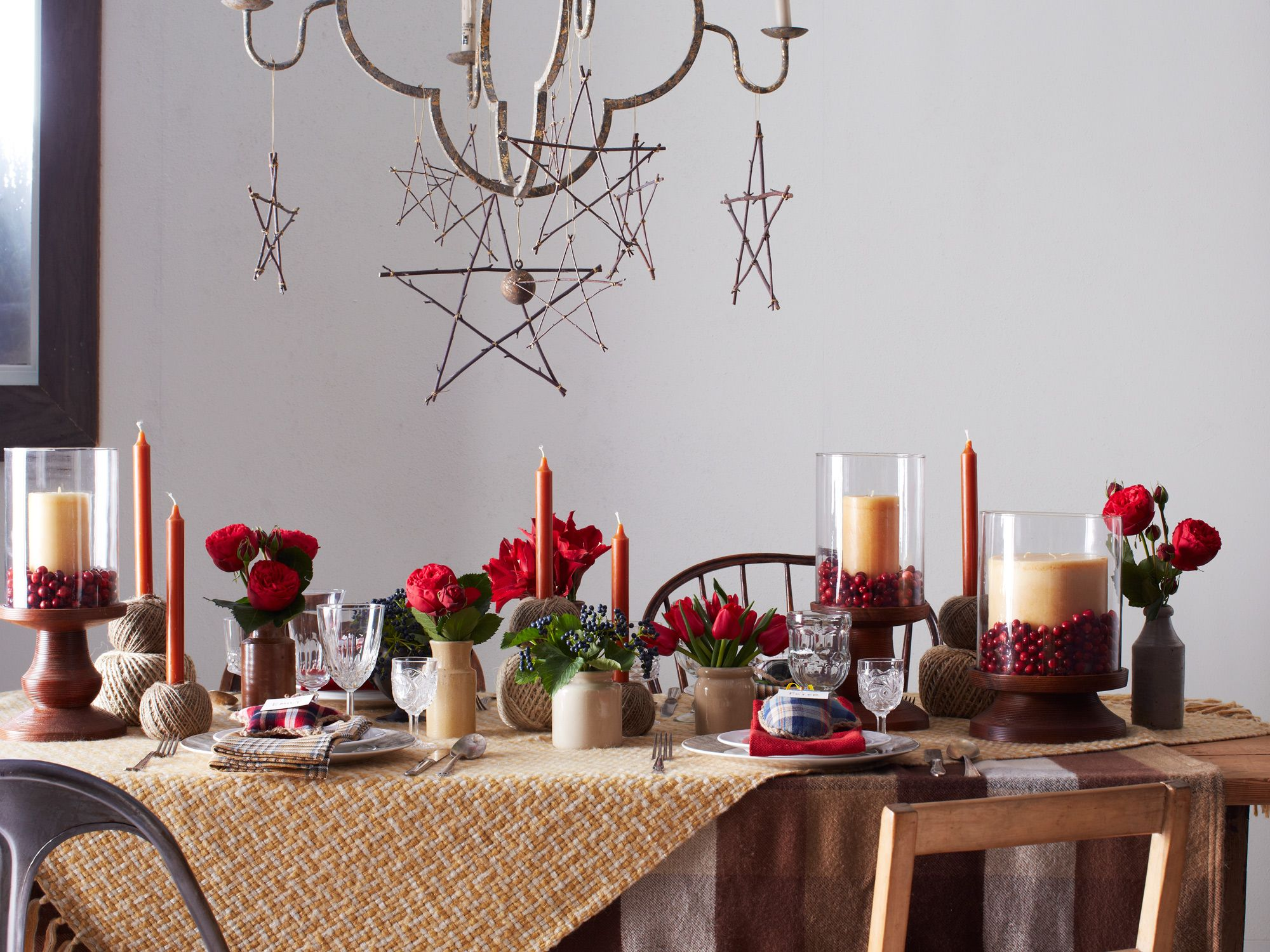 Decorate To lend your holiday party a rustic feel, it's