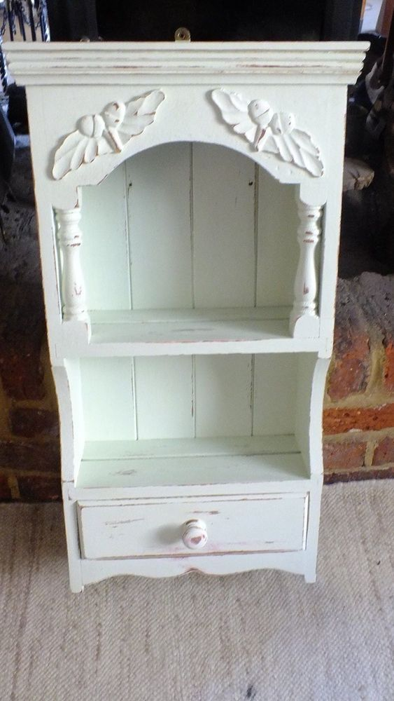 pine wall unit with acorns shabby chic painted french style french rh pinterest com