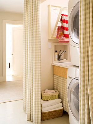 I guess I have laundry rooms on the brain...I've been eyeing a similar drying rack for awhile and plan on having John make me one.