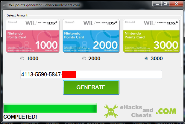 Codes html free wii points generator source free wii points generator