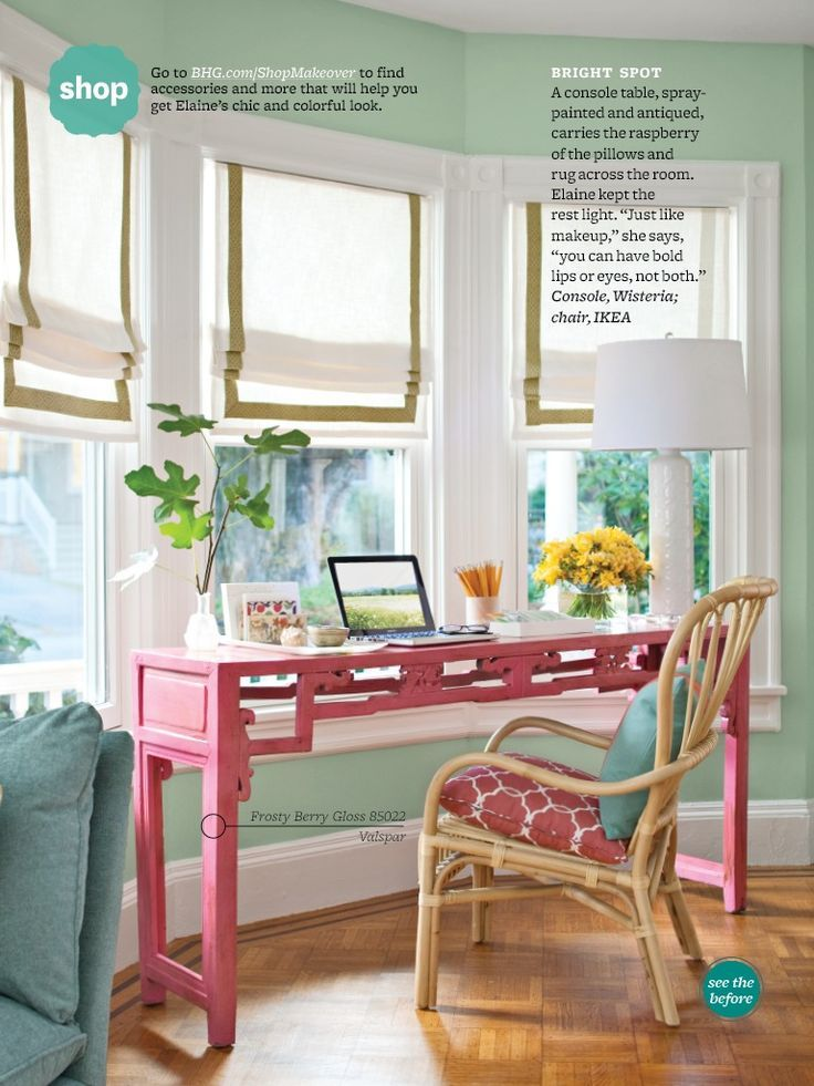 love this slender desk in the bay window the colors in the room are rh pinterest ca