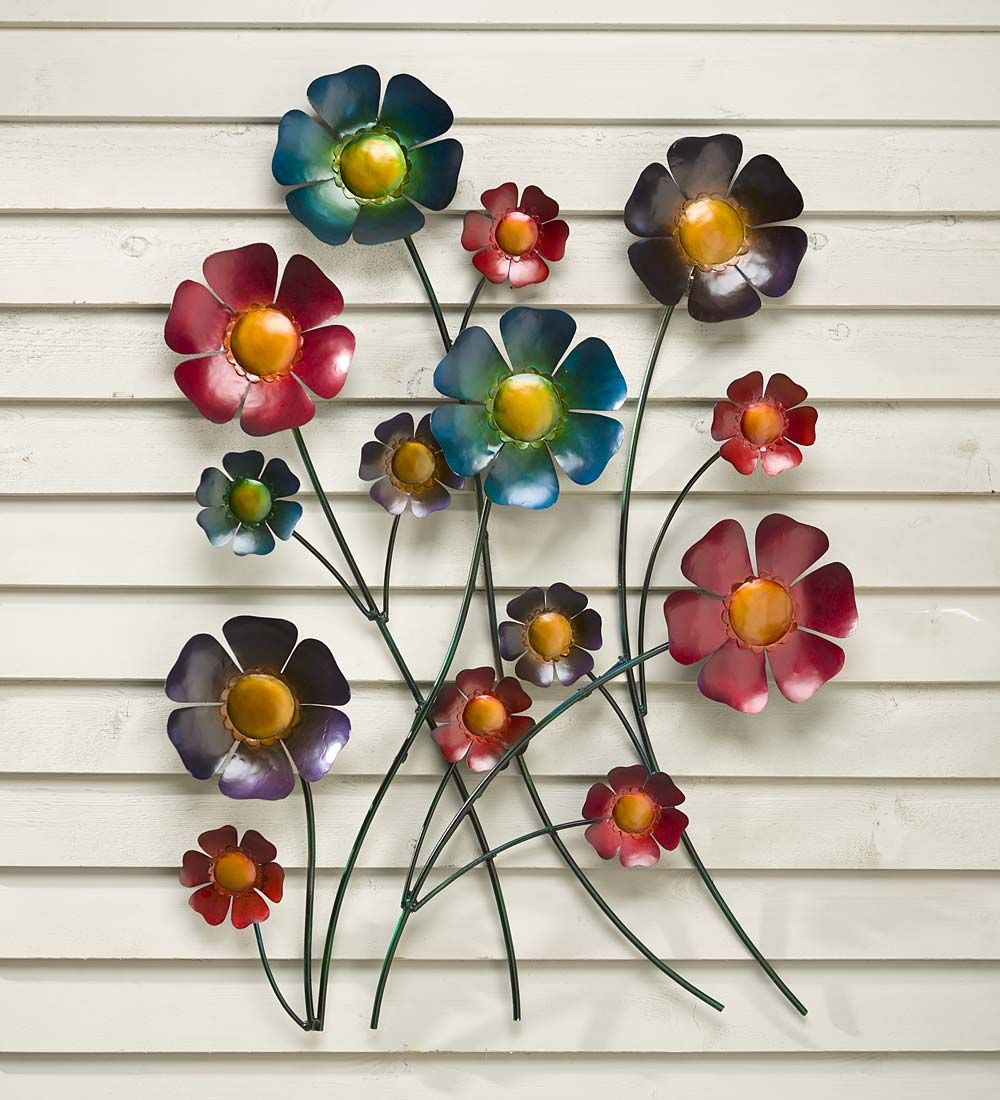 Outdoor Metal Flower Wall Art Metal Flower Wall Art  $119.95 At Plowhearth  Hello Walls