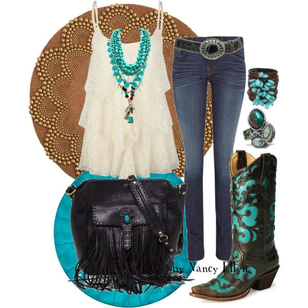 Sexy Cowgirl, created by nancy-ellyn on Polyvore