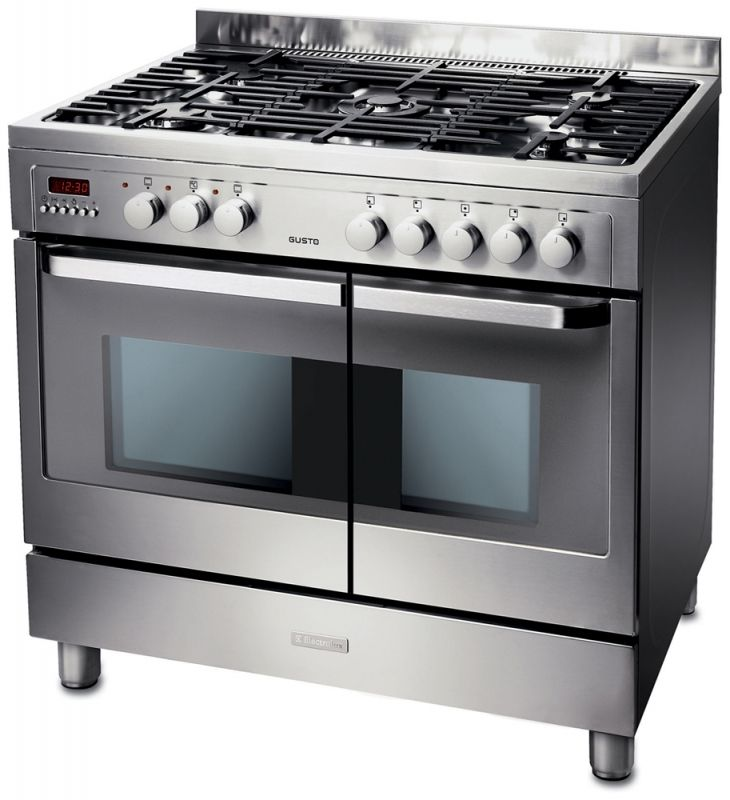 electrolux 90cm oven. Electrolux EKM90460X 90cm Stainless Steel Dual Fuel Double Oven Range Cooker