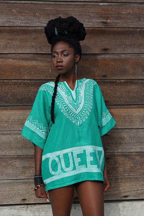 Hey, I found this really awesome Etsy listing at https://www.etsy.com/listing/230349224/queen-hand-painted-dashiki
