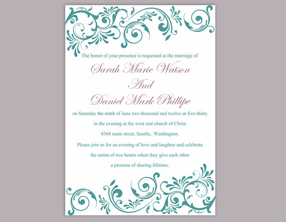 Wedding Invitation Template Download Printable Wedding Invitation - download free wedding invitation templates for word
