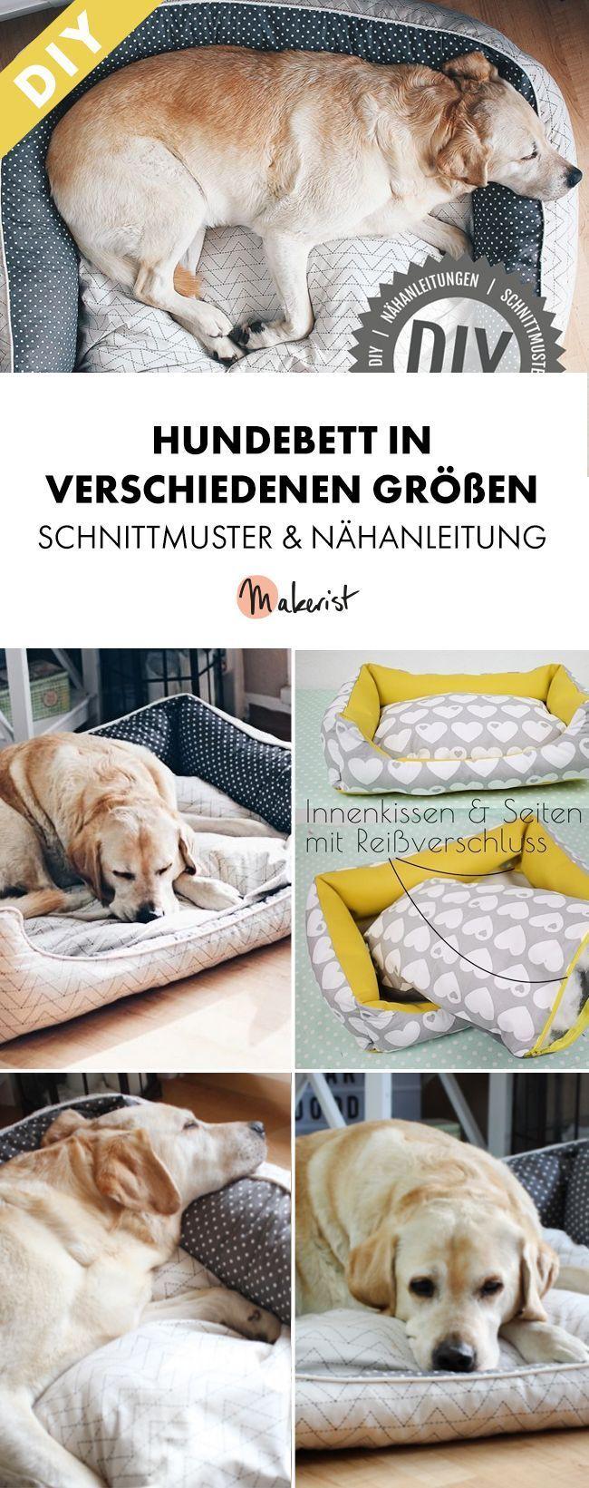 Nähanleitung Hundebett in 3 Größen mit Reißverschluss | Pinterest ...