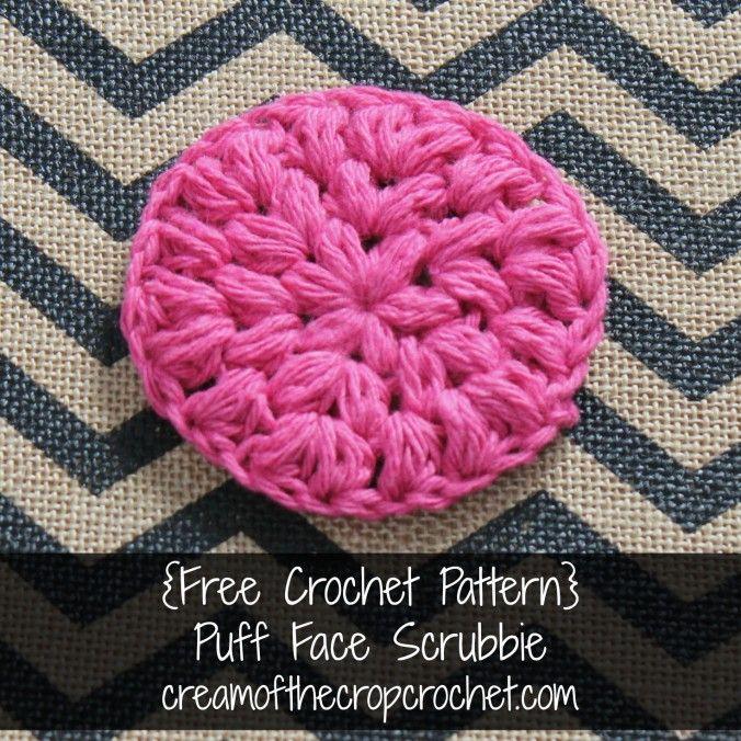 Cream Of The Crop Crochet ~ Puff Face Scrubbie {Free Crochet Pattern ...