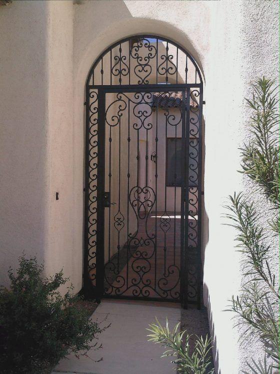 Iron Fence On Back Side Of Swimming Pool Iron Front Door Wrought Iron Front Door Modern Front Door