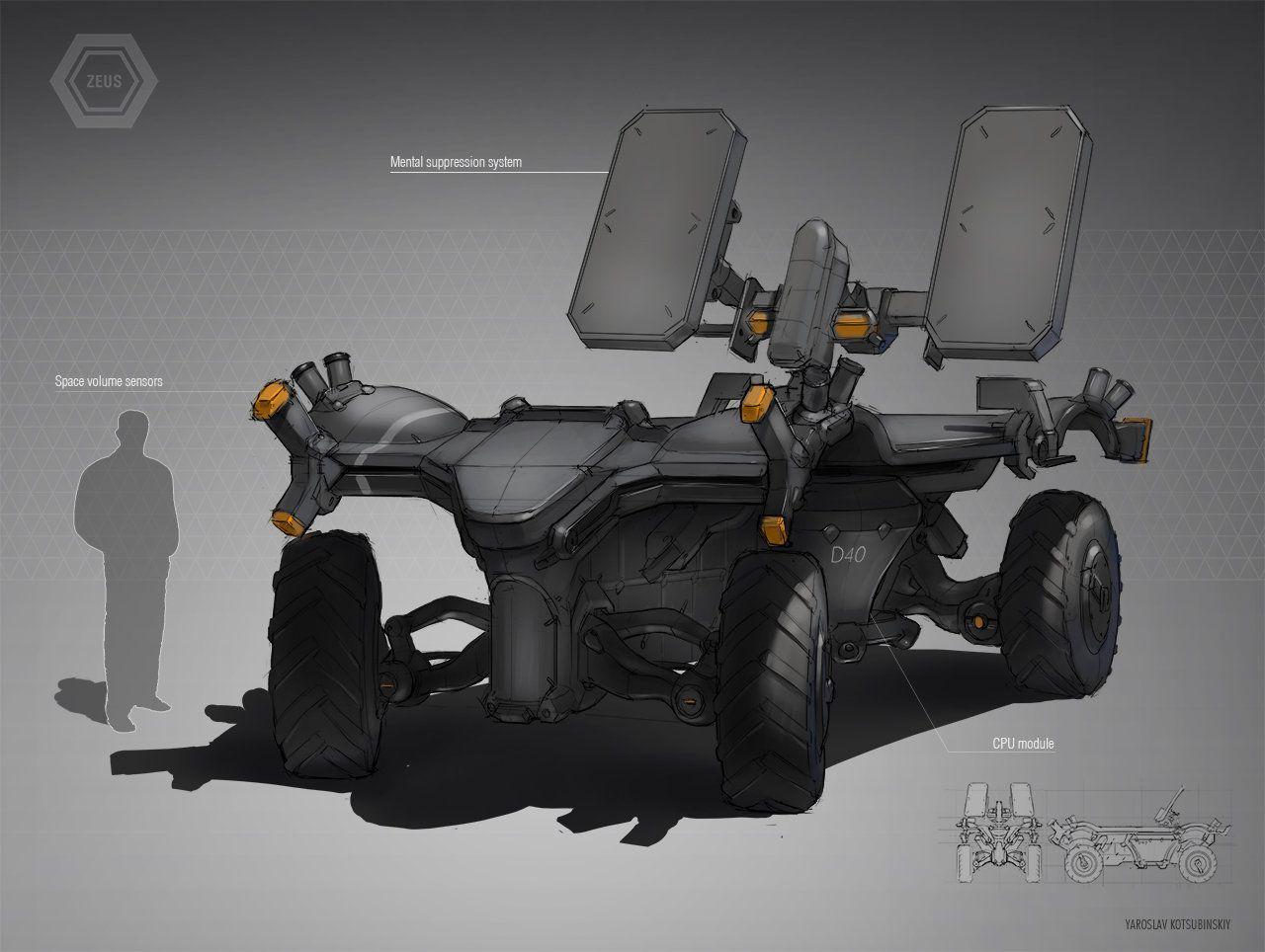 ArtStation - Armored Vehicle, Yaroslav Kotsubinskiy