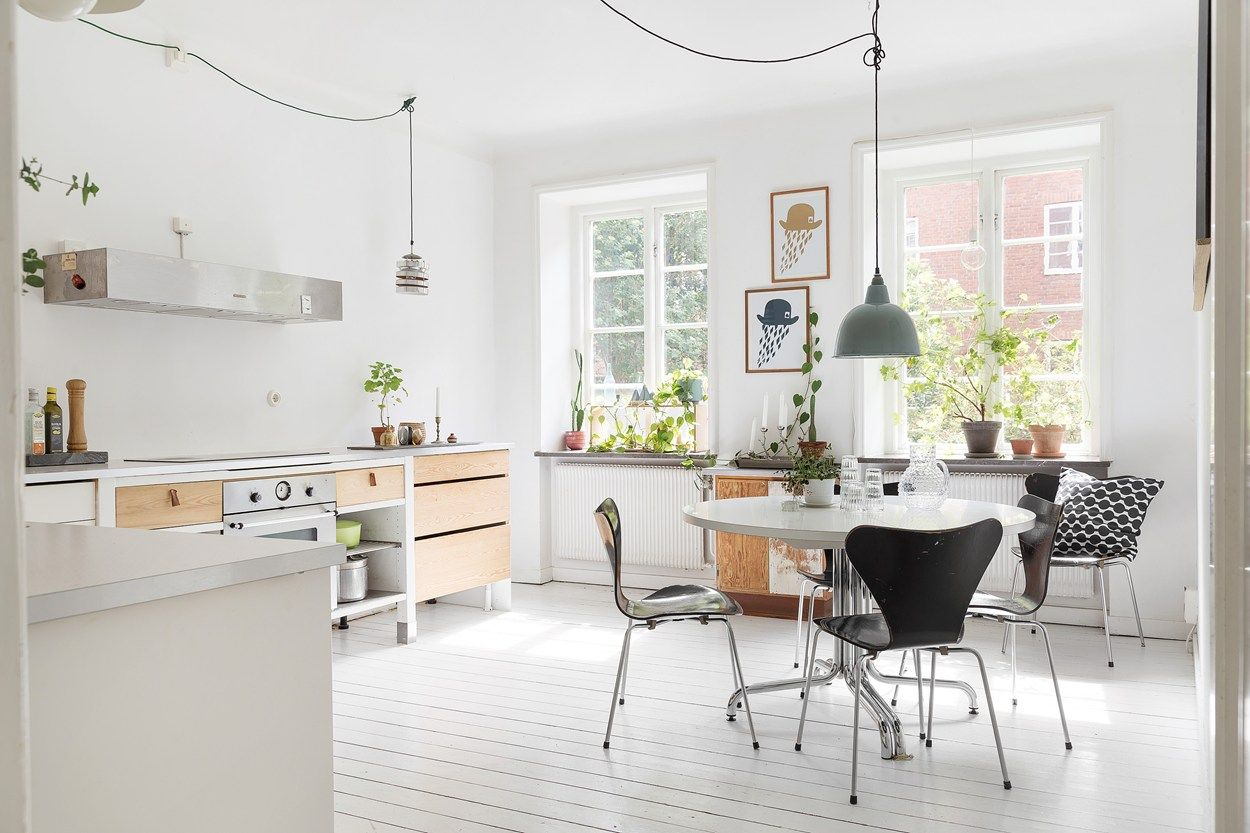 Minimalist Kitchen Inside Of A Scandinavian Farmhouse With White Stunning Interior Design Of The Kitchen Design Decoration