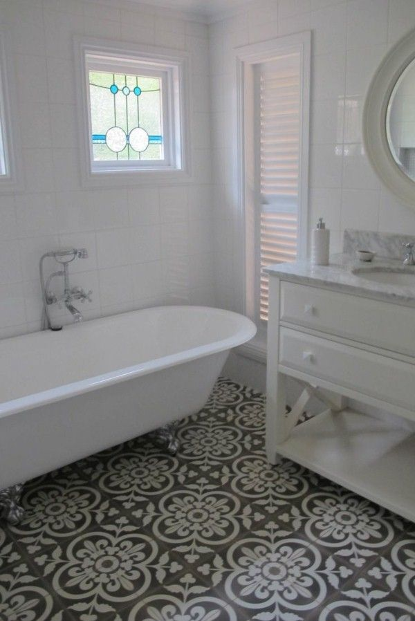 Beautiful bathroom ideas for moroccan tiles bathroom Moroccan ceramic floor tile