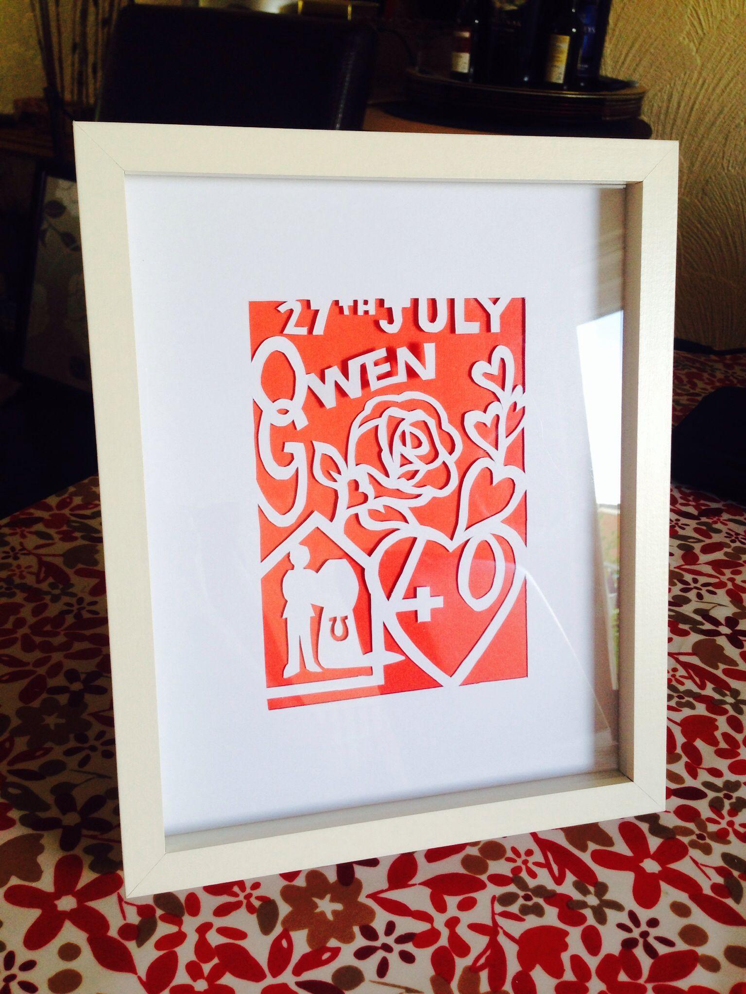 Homemade Ruby wedding anniversary gift for my