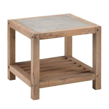 ranleigh reclaimed wood end table gray in 2019 products wood rh pinterest com
