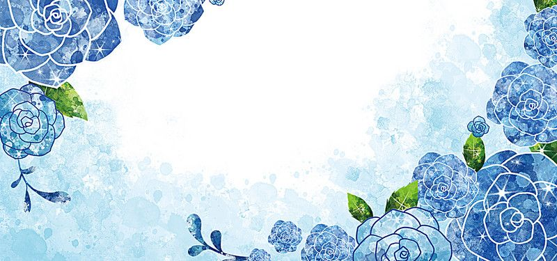 Watercolor Blue Rose Background In 2020 Art Background Flower