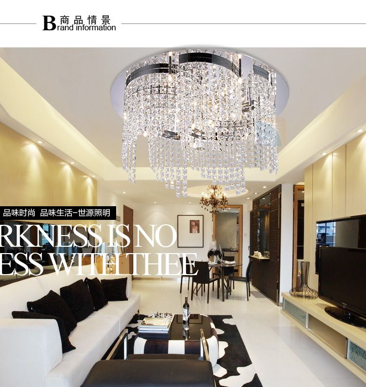 Modern brief fashion luxury crystal lamp ceiling