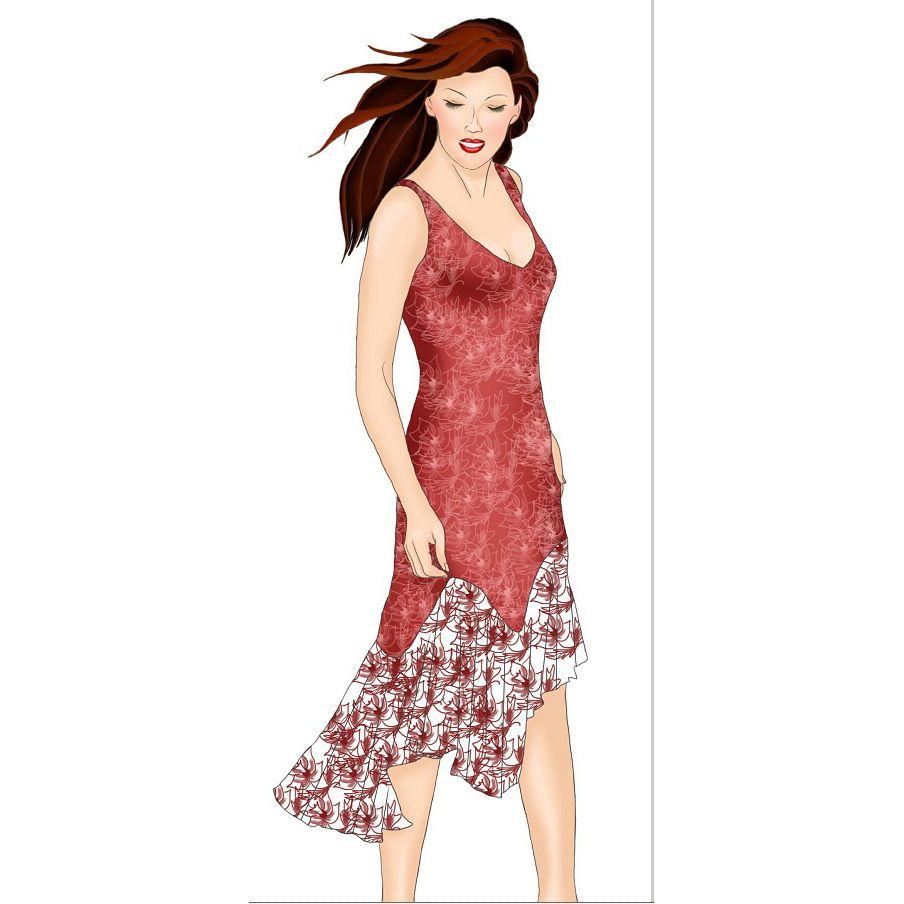Robe à volant Cd 7 | couture | Pinterest | Diseños de moda, Patrón ...