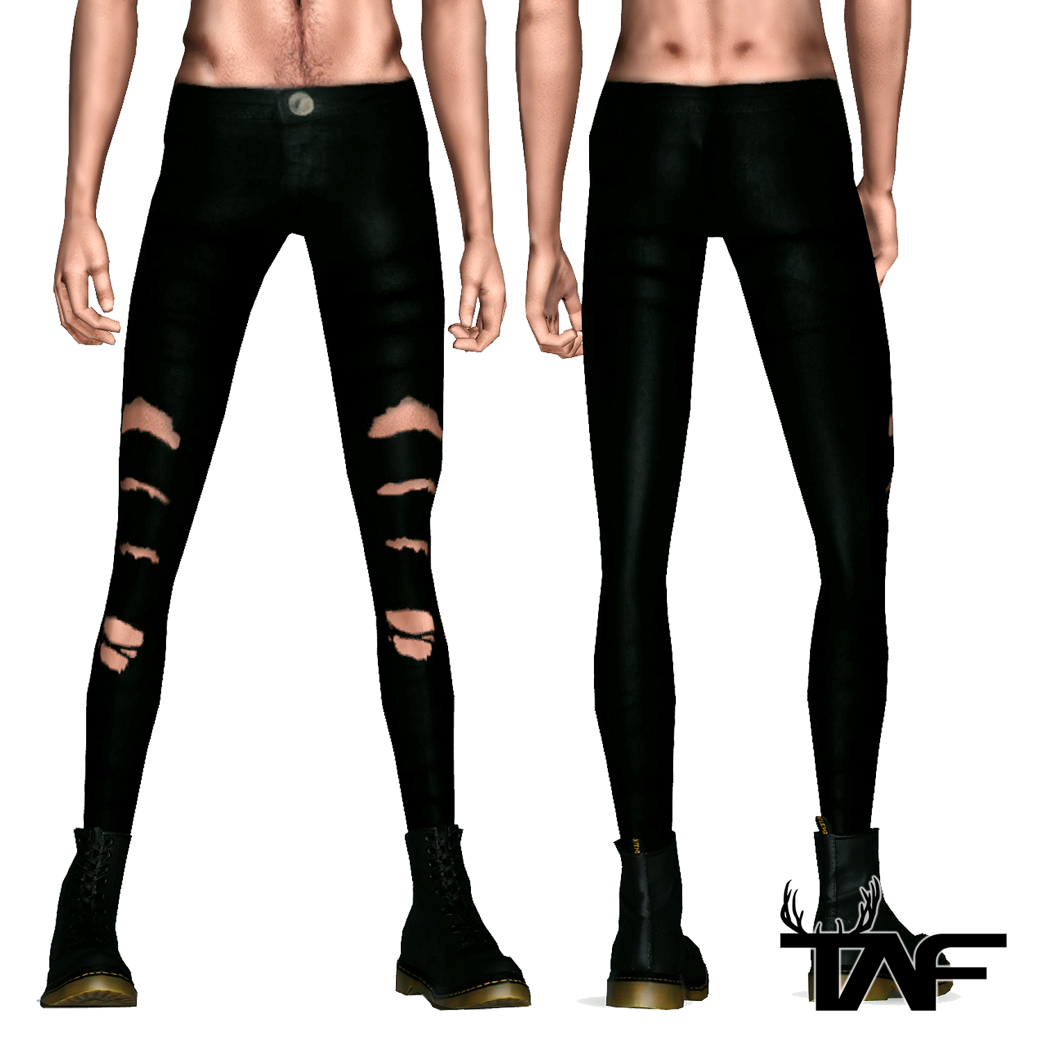 Torn Pants for Male Sims 3 By TAF | TAF Sims 3 Download | Pinterest | Sims and Sims cc