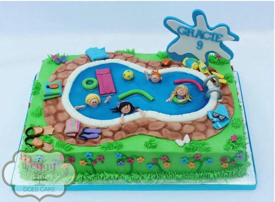 Splish Splash Pool Sheet Cake Pool Party Cakes Pool Birthday