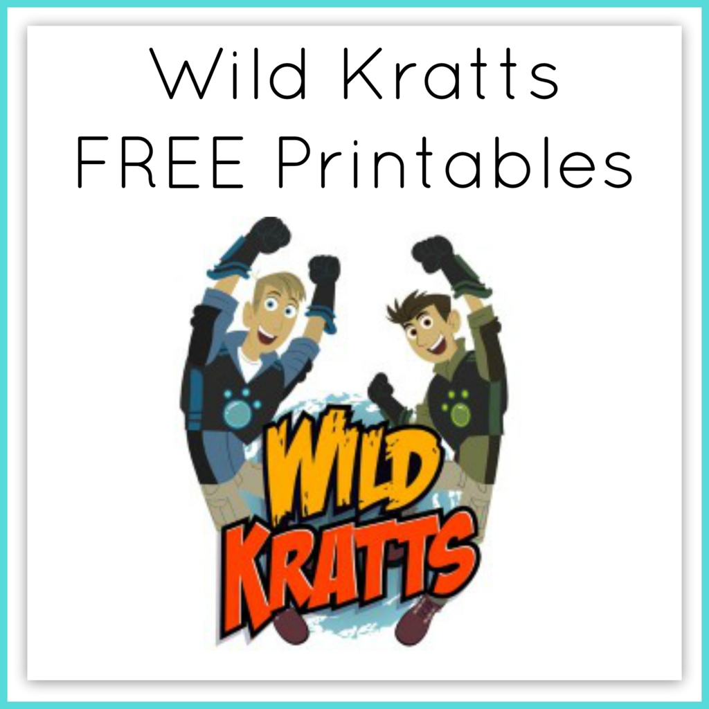 Wild Kratts Printable Worksheets Curriculum