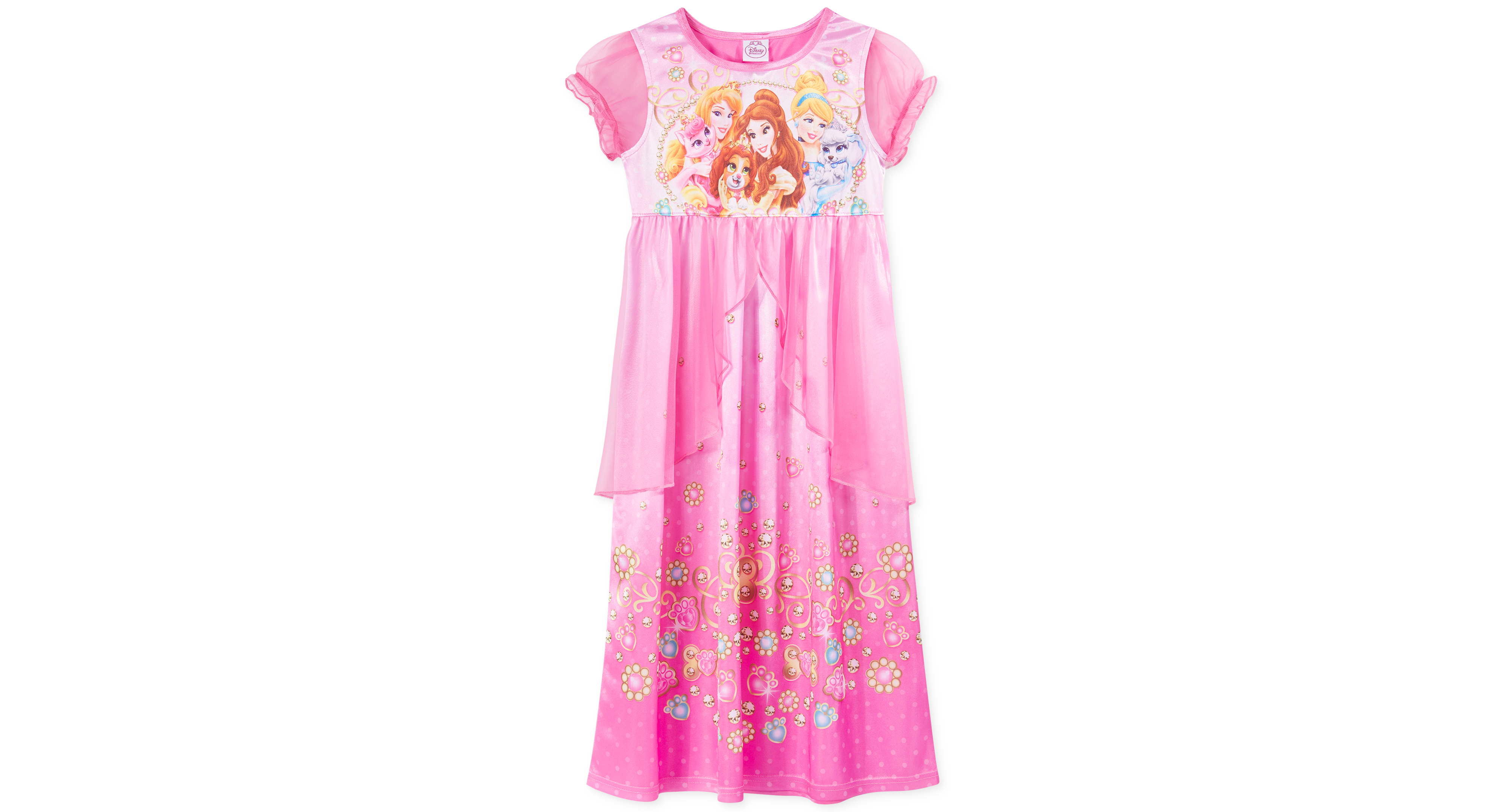 Ame Girls' or Little Girls' Disney Princess Palace Pets Fantasy Gown