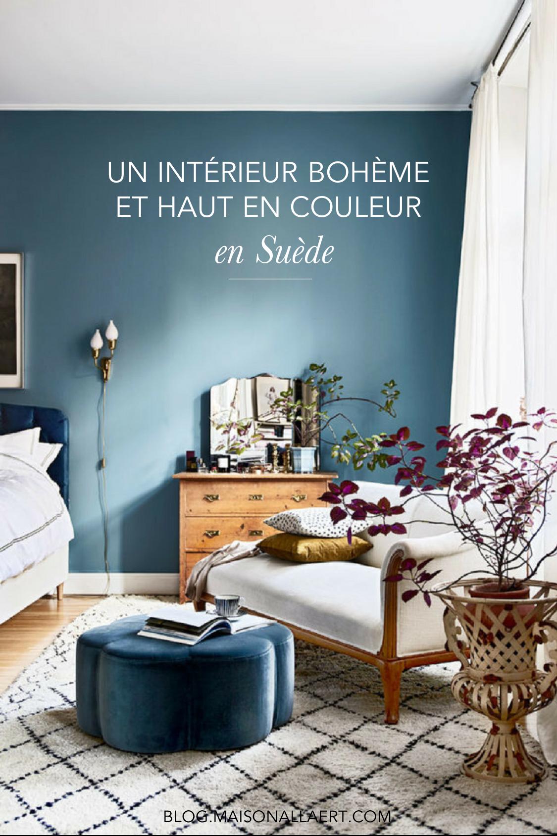 Chambre Parentale Bleu Canard un intérieur bohème aux couleurs fabuleuses   deco chambre