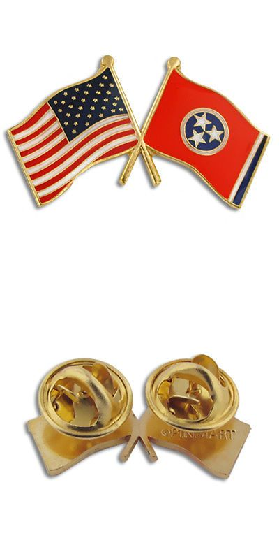 Charming Pins And Brooches 50677: Pinmarts Tennessee And Usa Crossed Friendship Flag Lapel  Pin BUY IT