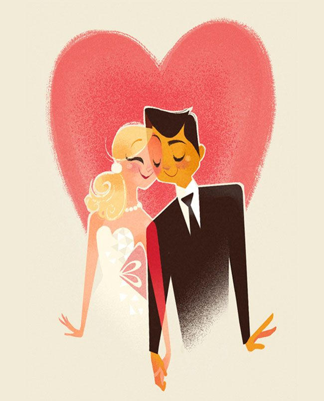 how to address couples on wedding invitations%0A Artistic Backyard Wedding  Brittney   David  Wedding IllustrationCouple  IllustrationWedding InvitationsCouple