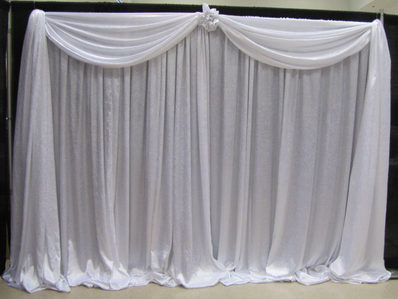 Pipe and drape on pinterest wedding stage wedding stage for Wedding backdrops
