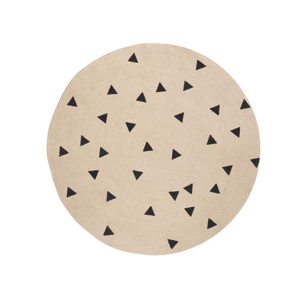FERM LIVING Teppich rund Triangle