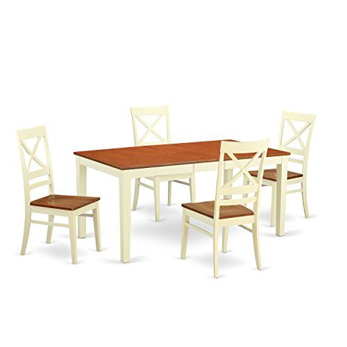east west furniture niqu5 whi w 5 piece kitchen table and 4 chairs rh za pinterest com