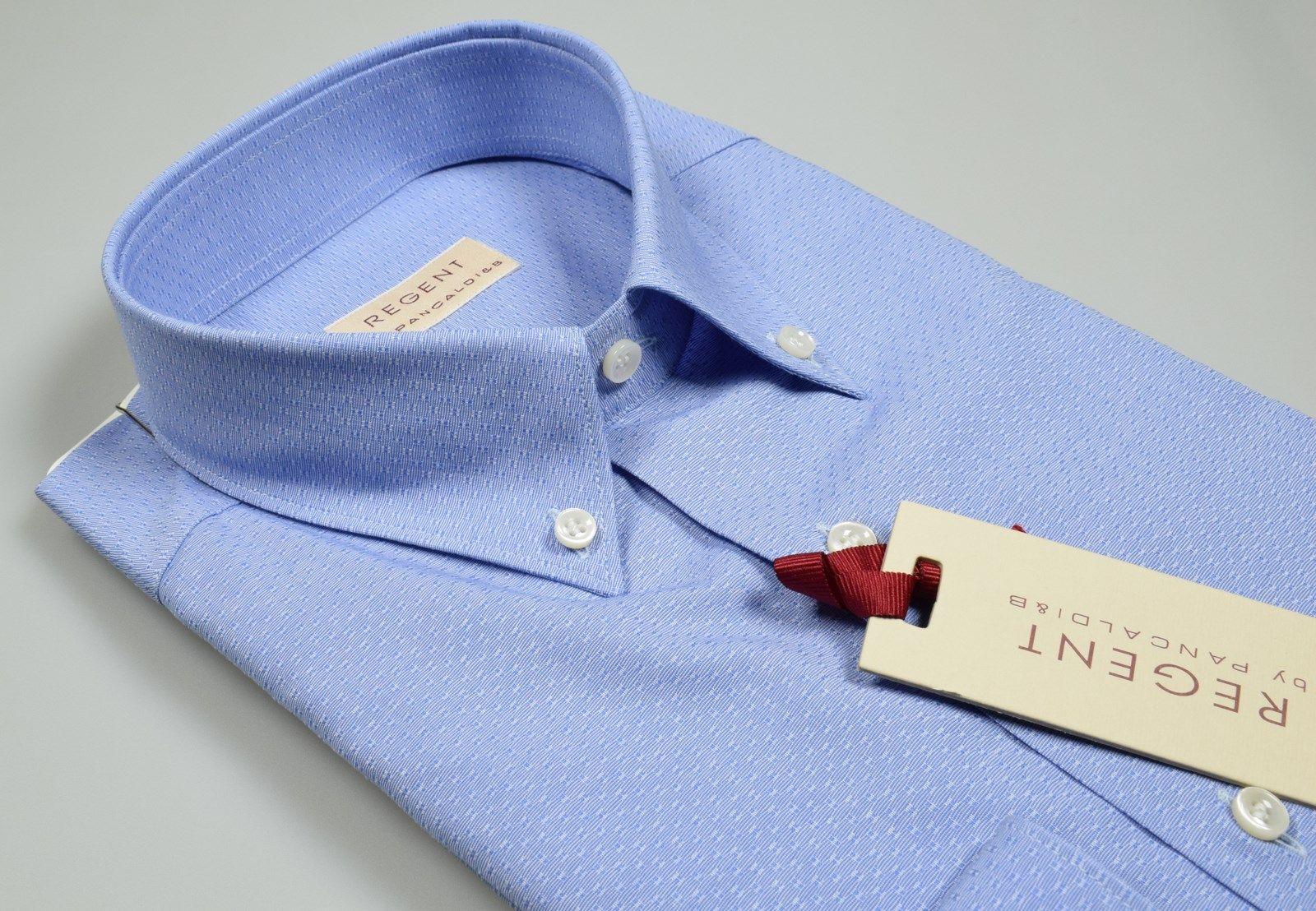 buy online 0e01d 2da39 Pancaldi Blue neck button down shirt with regular fit pocket ...